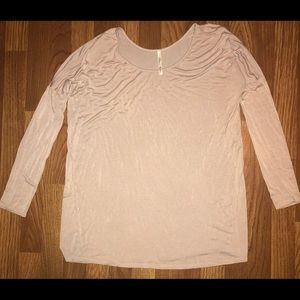Cream colored dolman style boutique shirt